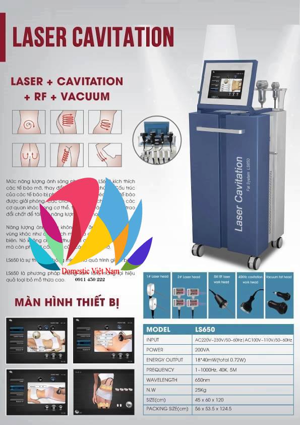 Thông số chi tiết về máy laser LS650